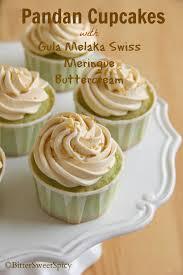 pandan cupcakes with gula melaka swiss meringue buttercream