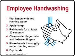 restaurant hand washing sink kitchen handwashing procedure sign template archive