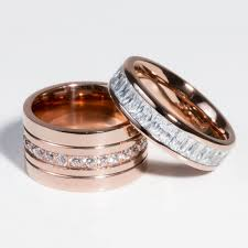 rings large stones images Rose gold large ring with a row of stones in the middle miajwl jpg