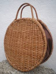 new wicker and faux leather bag 30 cm round wicker bag wicker