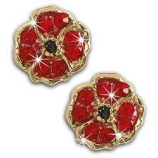 poppy earrings poppy earrings danbury mint