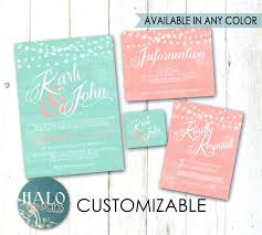 teal wedding invitations coral and turquoise wedding invitations or teal and coral