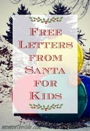 letters from santa free letters from santa for kids