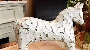 white wooden horse chippy finish scandinavian style