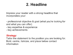 Best Resume Title by Effective Cv Resume Writing