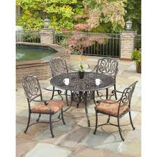 42 Patio Table Home Styles Biscayne 42 In Black 5 Piece Round Patio Dining Set