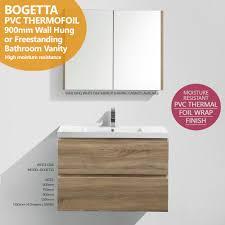 White Oak Furniture Bogetta 900mm White Oak Pvc Thermal Foil Timber Wood Grain