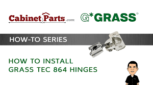 how to install grass tec 864 self u0026 soft closing hinges