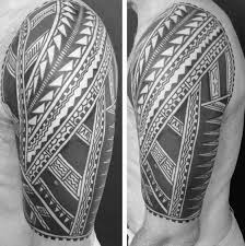 collection of 25 half sleeve black ink tribal tattoos for