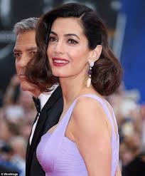 is amal clooney hair one length the best beauty looks at the 2017 venice film festival daily