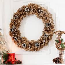 pine cone wreath ruffled burlap pine cone wreath my kirklands