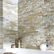 panneau fausse brique plaquette de parement petra en pierre naturelle beige promo leroy