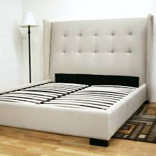 Platform Bed No Headboard cheap platform bed frame ideas with distressed wood headboard