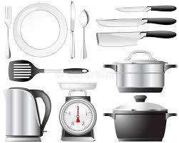 vaisselle de cuisine positionnement de vaisselle de cuisine illustration de vecteur