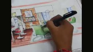 interior design perspective view rendering art demo by ar
