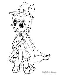 witch fancy dress coloring pages hellokids com