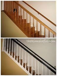 Staining Stair Banister Best 25 Oak Banister Ideas On Pinterest Black Banister Gel