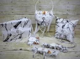 camo wedding sets white camo wedding set wedding flower basket wedding pillow