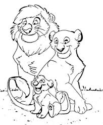 free printable lion coloring pages for kids in lion cub coloring