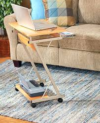 Small Rolling Computer Desk Rolling Cart Desk Computer Table Stand Portable Home Office Work
