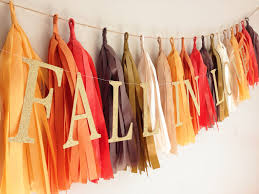fall in love 21 tassel garland brown burnt orange harvest