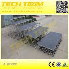 on sale aluminum portable folding stage stairs event stage