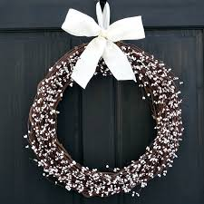 amazon com country primitive white pip berry wreath for year