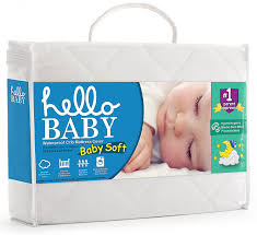 Size Of A Crib Mattress Hello Baby Waterproof Crib Mattress Cover Quilted