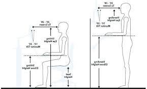 Height Of Office Desk Desk Height Desk Office Ergonomics Standing Desk Ergonomics