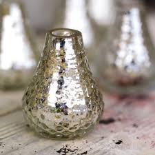 Silver Vases 3 Silver Lustre Bud Glass Vases Pipii