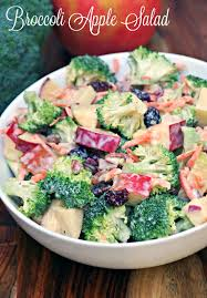 creamy broccoli apple salad recipe turning the clock back