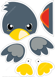 paper bird toy to cut out and play free printable papercraft