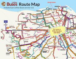 Route Map by Lothian Buses Edinburgh Map Lothian Buses Edinburgh Route Map