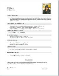 latest resume format for engineering students student resume format inssite
