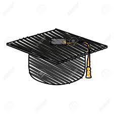 graduation toga graduation toga hat icon illustration vector design graphic