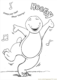 barney12 coloring free barney coloring pages