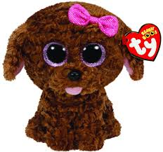 ty beanie boos maddie brown dog bow plush walmart
