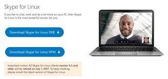 telecharger skype pour bureau l application skype de linux va cesser de fonctionner dès