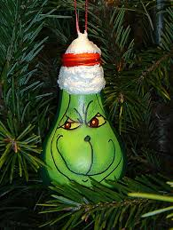 5 unique recycled ornaments grinch light bulb and bulbs
