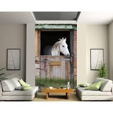 deco chambre cheval papier peint déco grande largeur cheval écurie dimension achat