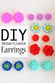 diy earring studs diy how to make simple resin flower earrings bit square