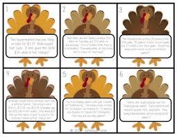 talk math station activity problem solving thanksgiving freebie