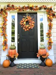Thanksgiving Front Door Decorations Plan