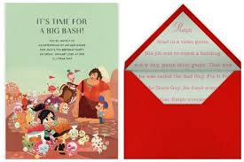 online invitations paperless post s new disney party invitations cool picks