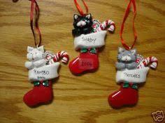 polymer clay cat ornament gray tuxedo by heartofclaygirl