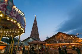 cheshire oaks huge christmas tree is up and families can go