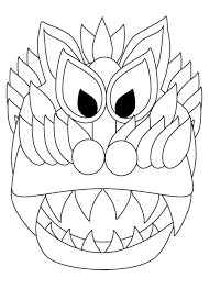 chinese new year dragon and lantern coloring sheets u2014 my art to