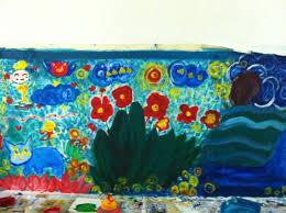 indoor mural for children s room artspeak indoor mural bordering one wall