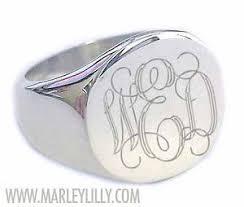 Monogrammed Silver Ring 56 Best Monogramed Rings Images On Pinterest Monogram Rings