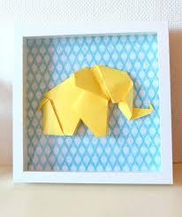 origami chambre bébé origami chambre bebe cadre 3d elacphant origami taille xl jaune et